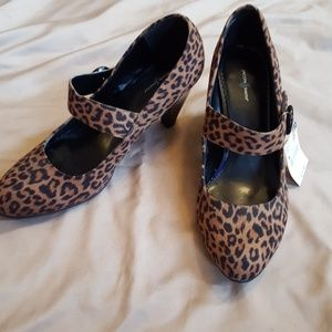 NWT Animal Print Heels